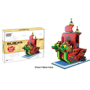One Piece Building Blocks Model Ship