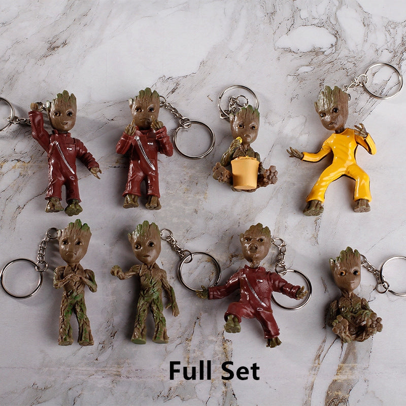 Mini Groot Figures Keychain