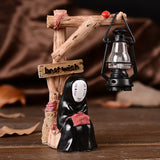 Anime No Face Cartoon Character Style Resin Night Light LED Lamp Kids Gifts