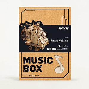 DIY 3D Wooden Puzzle Music Box Craft Kit - Space Vehicle & Submarine