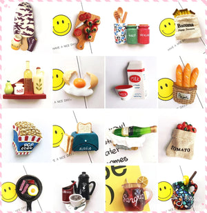 Unique Colorful Foodies Super Cute Mini Fridge Magnet Gifts Funny