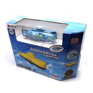 Remote Control RC Mini Submarine with HD Camera / LED Light / Feeding Device