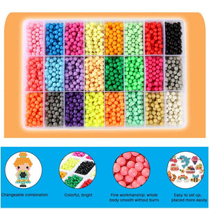 DIY Water  Magic Sticky Beads with Whole Set Accessories Learning Toys for Kids
