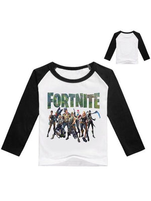 Fortnite Casual Cotton Long Sleeve Printed Top