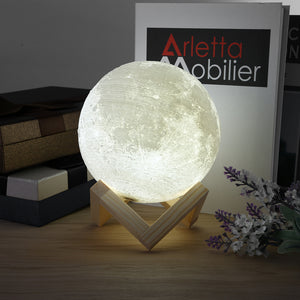 3D LED Magical Moon Night Light Gift Table Desk Lamp Color Changing Home Decor