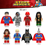 Super Heroes Figures Set Superman Mini Toys Kids Xmas Gifts- DC Comics