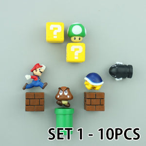 Fridge Magnets - Super Mario Cartoon Models Stickers Decoration Gifts For Kids