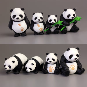 8 pcs Simulation Sichuan Panda Ornament Set