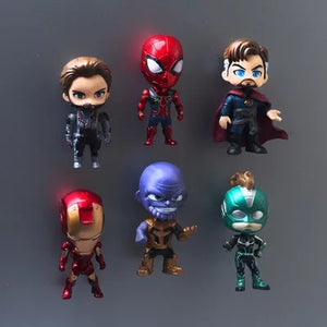 Sets of 6 Cute 3D Superhero Refrigerator Magnets