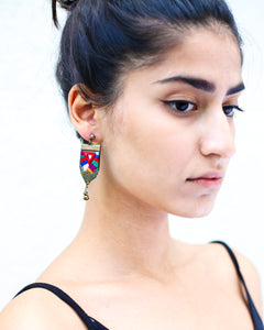 hand-embroidered earrings