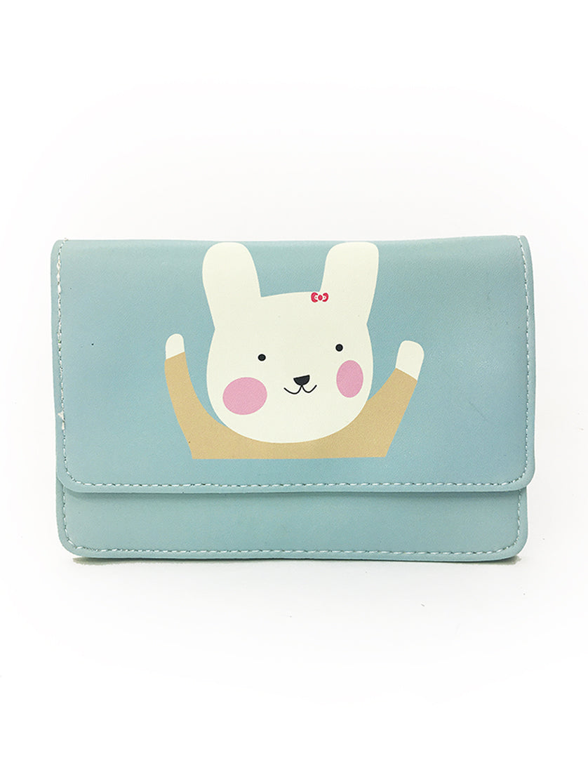 Kawaii 2-Way Clutch / Body Bag with Rabbit Print