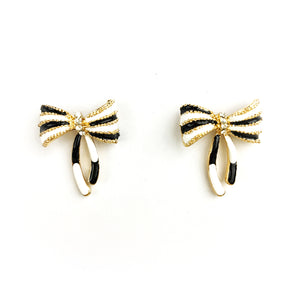 Fun Enamel Earrings - Ribbon