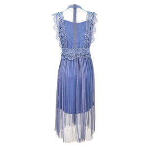 Royal Lace Dress Pleated Tulle Sleeveless
