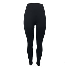 Tuxedo Style High Waist Leggings with White Side Stripe