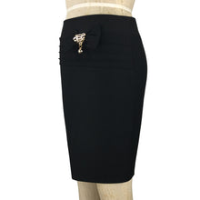 Day to Night Side Pencil Skirt with Ribbon