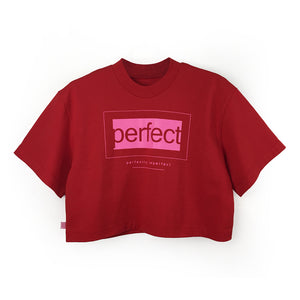 "Loose fitting Cropped Tee ""PERFECT"" Print"