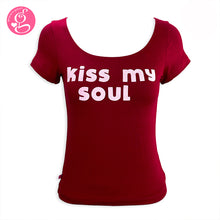 Square Neck T Shirt Message Kiss My Soul
