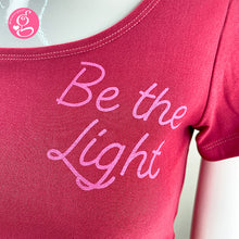Square Neck T Shirt Message Be The Light