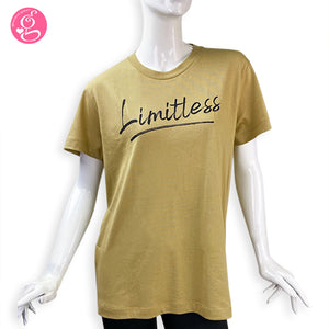 Unisex Cotton T-shirt with Message Limitless