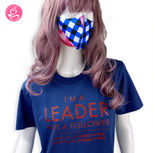 Unisex Cotton T-shirt with Message I'm A Leader