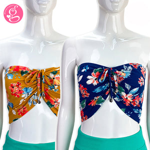 Sweetheart Bandeau with Floral Print - Pack of 2