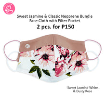 BUNDLE Sweet Jasmine and Classic Neoprene Mask with filter pocket (2 pcs for P150)