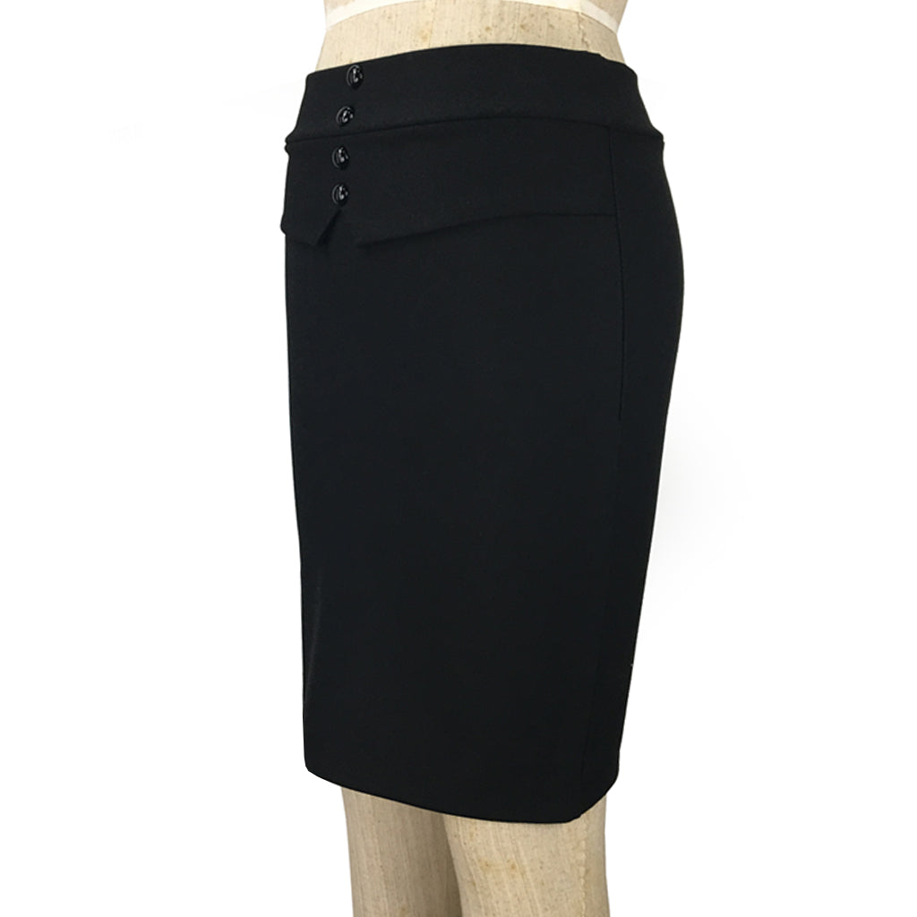 Day to Night Side Pencil Skirt with Tuxedo Detail