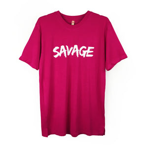 "Boyfriend / Unisex Tee With ""Savage"" Print"