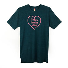 "Boyfriend / Unisex Tee With ""Friday I'm In Love"" Print"