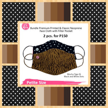BUNDLE Petite Safari Smooth & Comfy and Polka Dots Face Cloth with filter pocket (2 pcs for P150)