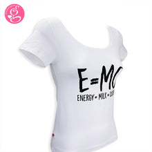 Square Neck T Shirt Message E=mc2
