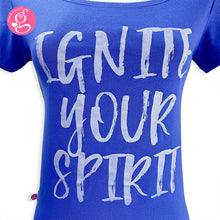 Square Neck T Shirt Message Ignite Your Spirit