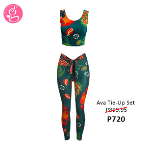 Ava Tie-Up Blouse & Leggings Set