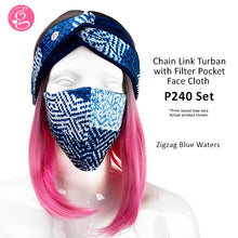 Chainlink Turban with Mask Set - Embossed Neoprene