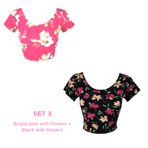 Fun Print Cropped Tops Set of 2 for P200
