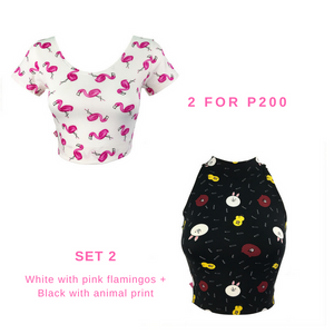 Ballerina Cropped Top and Halter Neck Set 2 for P200