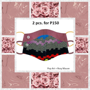 BUNDLE Luxe Embossed Neoprene Printed and Sweet Marshmallow Neoprene Plain with filter pocket (2 pcs for P150)