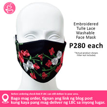 Embroidered Tulle Lace Face Mask