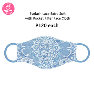 Eyelash Lace Extra Soft with Pocket Filter Mask