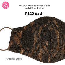 Lace Marie Antoinette 3 layers Mask with filter pocket (regular size)