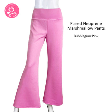 Slimming Flared Neoprene Marshmallow Pants
