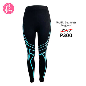 Seamless Leggings with Graffiti