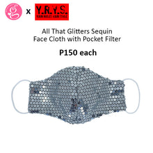 ALL THAT GLITTERS SEQUIN WITH FILTER POCKET MASK by YRYS