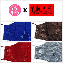 ALL THAT GLITTERS SEQUIN WITH FILTER POCKET FACE MASK by YRYS