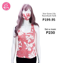 Star Gazer Lily Racerback Tank set with Mask