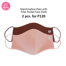 Marshmallow Plain Neoprene With Filter Pocket - Adult Size 2 pcs for P120