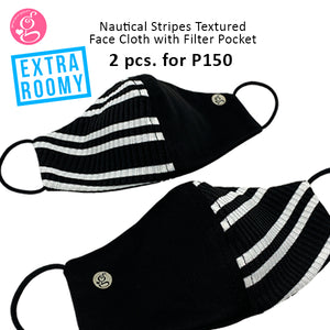 BUNDLE UNISEX Nautical Stripes Extra Roomy with filter pocket 2 pcs for P150 (Available Regular and Petite)