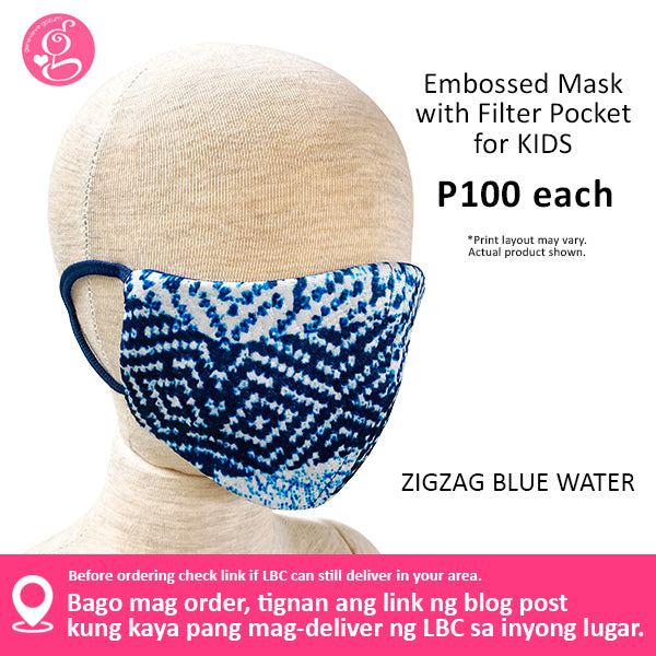 Kids Size Luxe Embossed Neoprene Printed Filter Pocket Face Cloth - Sold P100 Per Piece - LIMITED EDITION PRINTS - choose your design from the menu