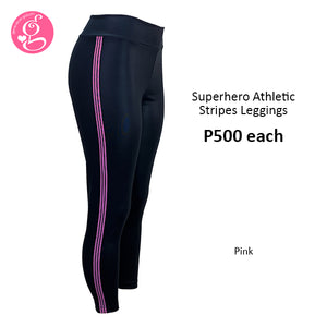 Y Workout Superhero Athletic Stripes Leggings