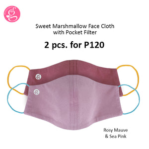 Sweet Marshmallow Plain Neoprene Mask With Filter Pocket Unisex - Adult Size 2 pcs for P120